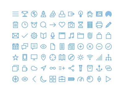 Thincons thincons thin icons ios7 line icon pack