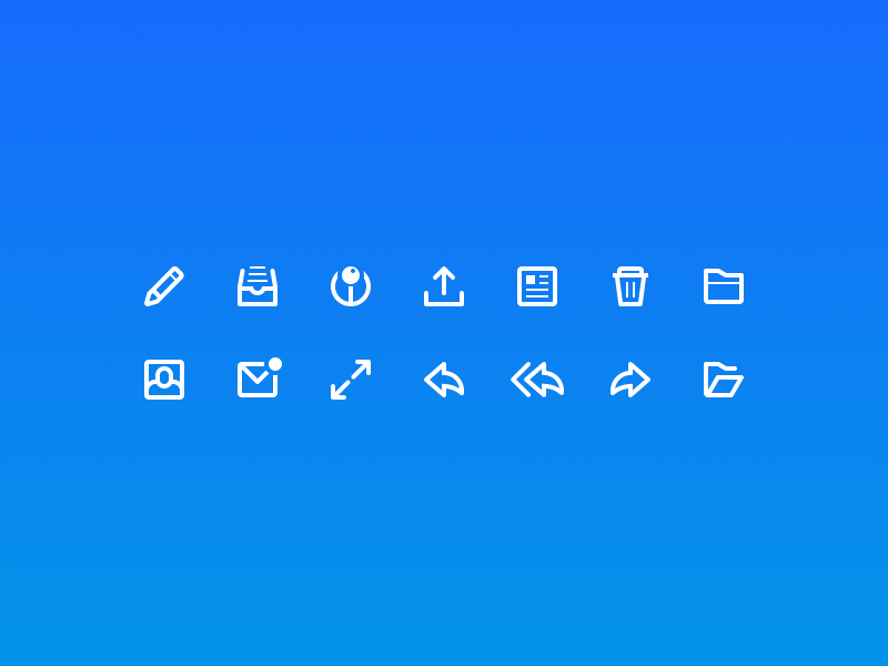 Bmail Icon Set bmail icon email app icon set