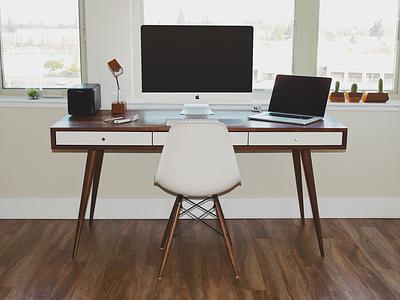 Workspace workspace desk office eames drobo imac macbook herman miller