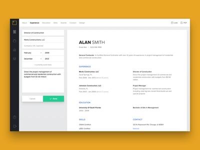 Represent Dashboard represent dashboard resume resume builder