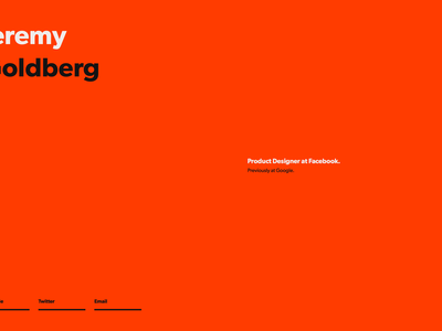 WIP Personal Website website wip orange jeremy goldberg