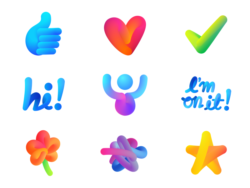 New Stickers for M assistant ai stickers m