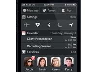 iOS Notification Center Redesign