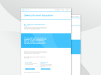 Encompass District & Union Education Webpage Design