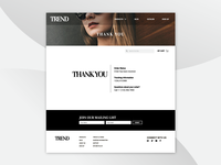 TREND template — Thank You Page