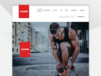 muscle Home Page Design