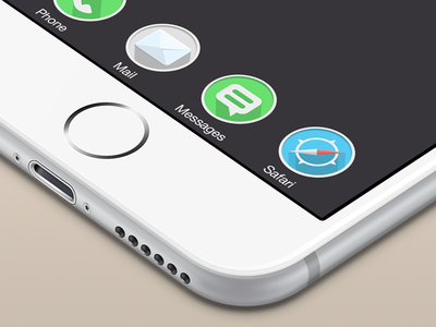 Rounded iOS icons ios ios 8 minimal iphone 6 flat shadow apple icons ui redesign finland first shot