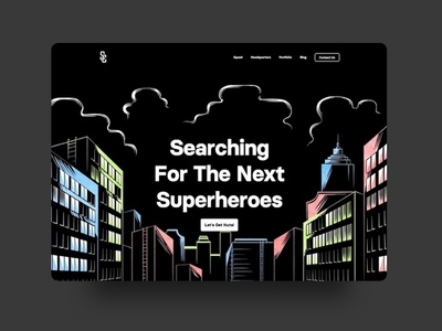 SuperheroCapital.com marvel comics cartoon illustration web web design ui website landing