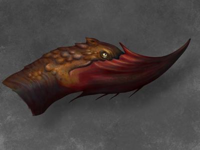 Chinhorn Dragon Head creature head dragon fantasy digital painting illustraion concept art