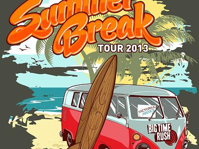 Big Time Rush illustration tour gig poster victoria justice big time rush