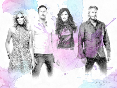 Little Big Town country music little big town watercolor sumi ink