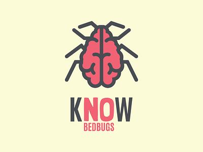 Know Bedbugs Logo logo design graphic design typography illustration