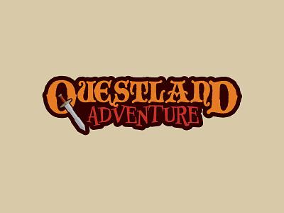 Questland Adventure video game graphic design illustration typography logo