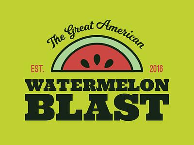 The Great American Watermelon Blast layout color scheme typography illustration logo design