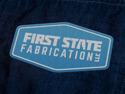 First State Fabrication Embroidered Patch embroidered patch apparel typography logo design