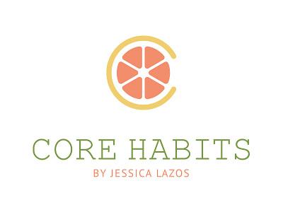 Core Habits By Jessica Lazos Logo Design adobe illustrator vector logo design