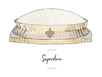 Superdome icon for wedding seating chart.