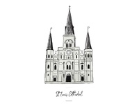 St. Louis Cathedral icon for wedding seating chart.