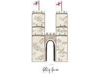 Gates of Genova icon for wedding seating chart.