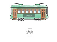 Streetcar icon for wedding seating chart.