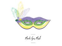 Mardi Gras mask icon for wedding seating chart.