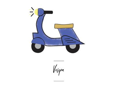 Vespa icon for wedding seating chart.