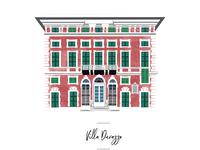 Villa icon for wedding seating chart.