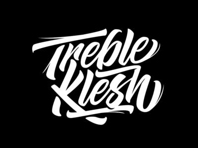 Treble Klesh Logo Design branding mark hand-lettering graphic design logo design