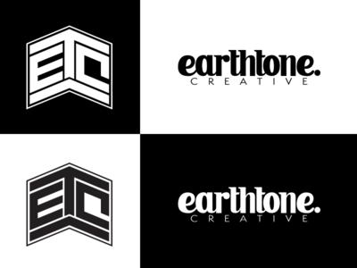 Earthtone Creative Unused Logo monogram badge mark branding hand-lettering graphic design logo design