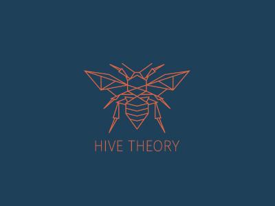Hive Theory Logo badge mark branding graphic design logo design