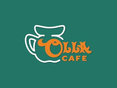 Olla Cafe typography branding logo design logo