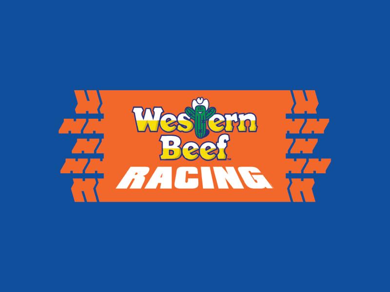 Western Beef Racing vector type illustration identity branding lockup logo