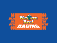 Western Beef Racing vector type illustration identity branding lockup logo