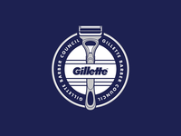 Gillette Barber Council barber gillette illustration vector identity branding logo