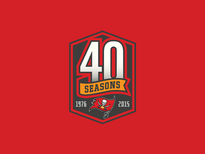 Tampa Bay Buccaneers 40th Season Logo