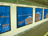 New York Knicks Subway Billboards - Proposed