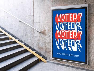 Vote(R)? Vote(D)? Just Vote. website type flat web icon branding vector typography design logo illustration