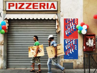 VOTE. VOTE. VOTE. type typography design vote poster graphic illustration