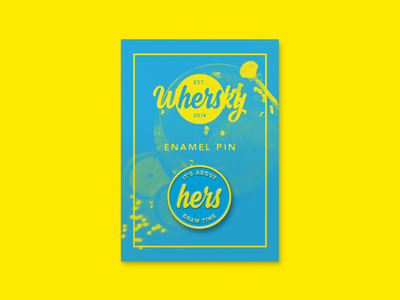 Whersky 'It's About Dram Time' Enamel Pin