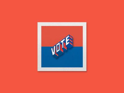 VOTE 🗳🇺🇸📌 vectorart vector typespire typedesign photoshop illustrator graphicdesign graphicart flatdesign enamel pin digitalart design creative cartoon branding brandidentity art