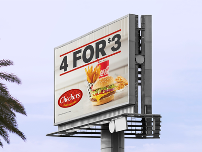 Checkers and Rally's Billboard 🍔🍟