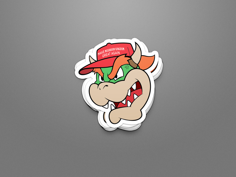 Make Mushroom Kingdom Great Again! vectorart vector typespire typedesign photoshop illustrator graphicdesign graphicart flatdesign enamel pin digitalart design creative cartoon branding brandidentity art