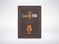 Glenfiddich Scotch Tiki Enamel Pin