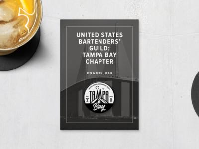 USBG Tampa Bay Chapter Pin type branding  flat vector typography logo design illustration