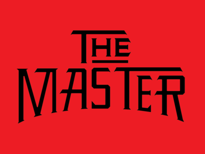 The Master illustration vector typography martial arts kung fu
