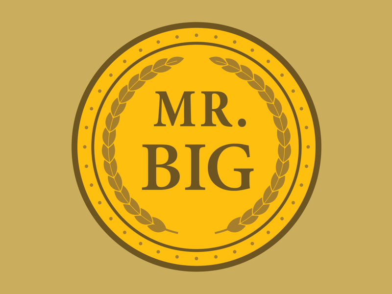 MR. BIG design vector logo icon illustration comedy waynes blaxploitation