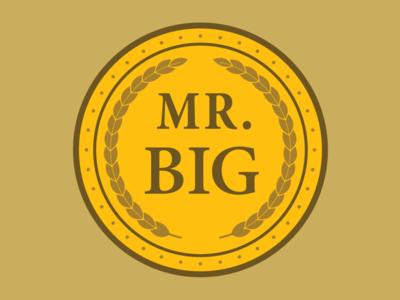 MR. BIG design vector logo icon illustration comedy waynes blaxploitation
