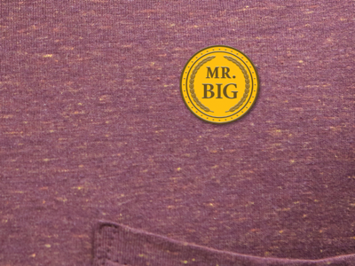 MR. BIG Enamel Pin mock-up art design illustration enamel pin pin comedy blaxploitation gold wayans