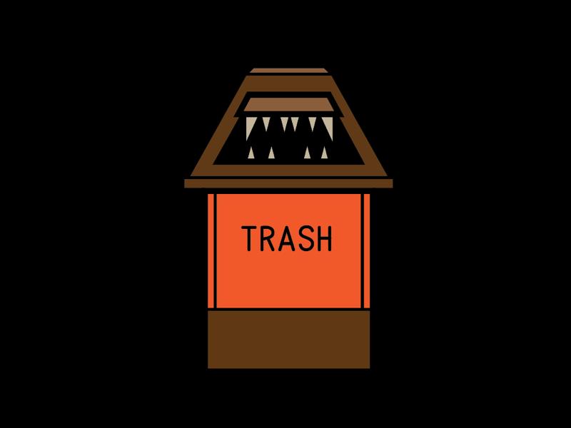 TRASH icon design vector illustration movie nyc trash african american black the wiz
