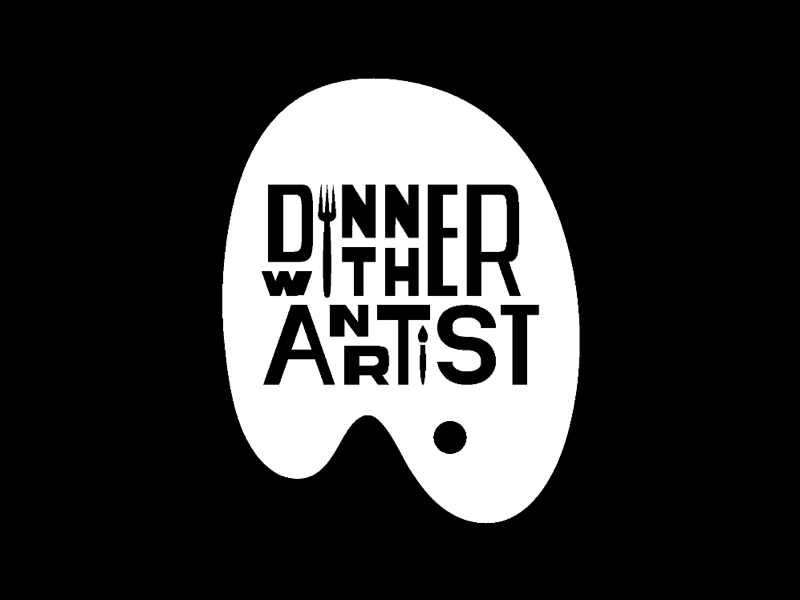 AIGA DC Dinner with an Artist Identity art vector graphic identity branding logo aiga washington dc